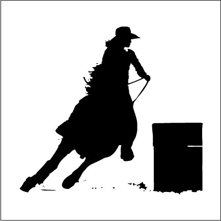 Barrel Racing Silhouette Clip Art Book Covers