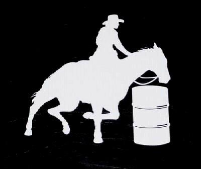 Barrel Racing Silhouette Clip Art Horse Barrel Racer Decal