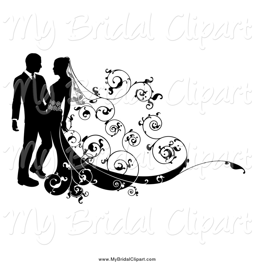 White Swirls Wedding Clipart - Clipart Kid