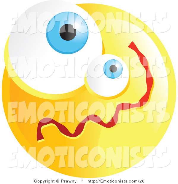 Clipart Illustration Of A Yellow Confused Emoticon Face Version 2