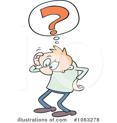 Confused Clipart  1063278   Illustration By Gnurf