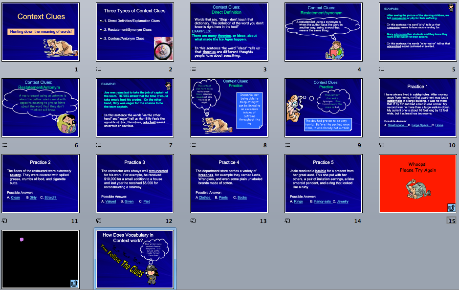 Context Clues   Power Point Maniac S Teaching Resources