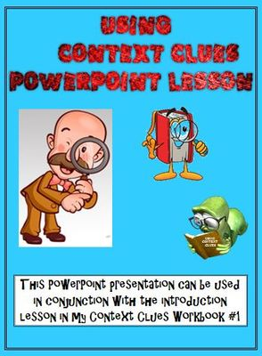 Context Clues Powerpoint Lesson  Correlates With My Workbook  1