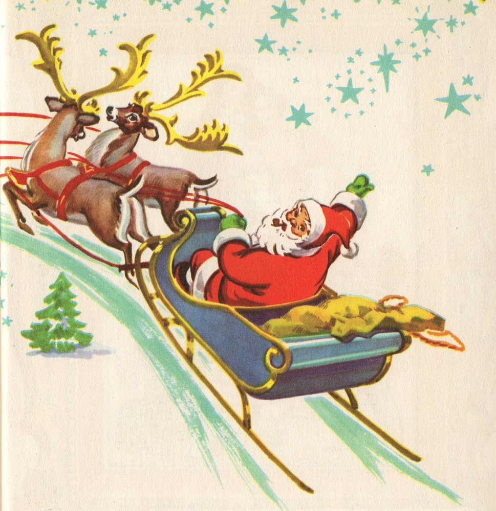 Art claus clip santa vintage