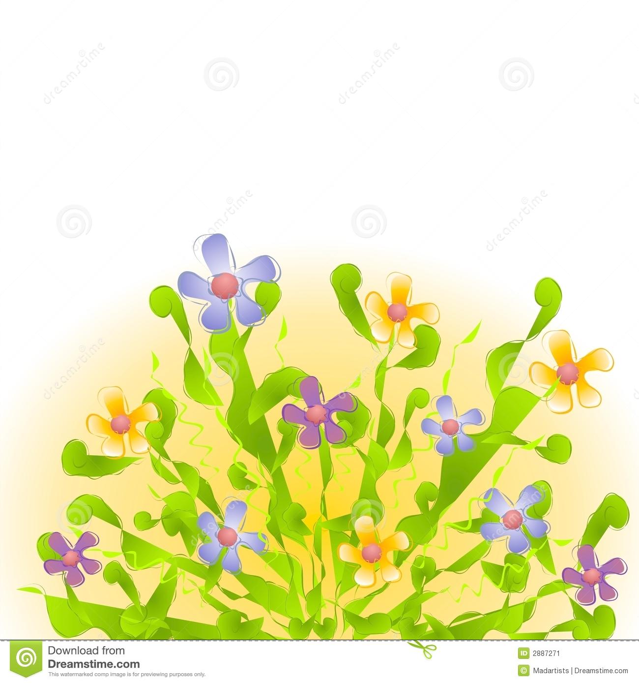 Flower Garden Clipart Clipart Suggest