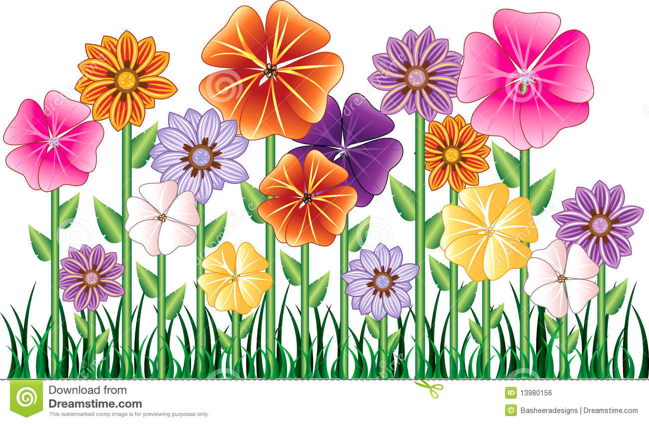 Flower Garden Clipart - Clipart Kid