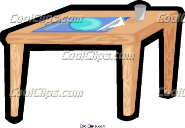 Kitchen Table Clipart Kitchen Table With Place Setting For One