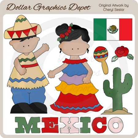Mexican Girl Clipart Mexican Kids   Clip Art