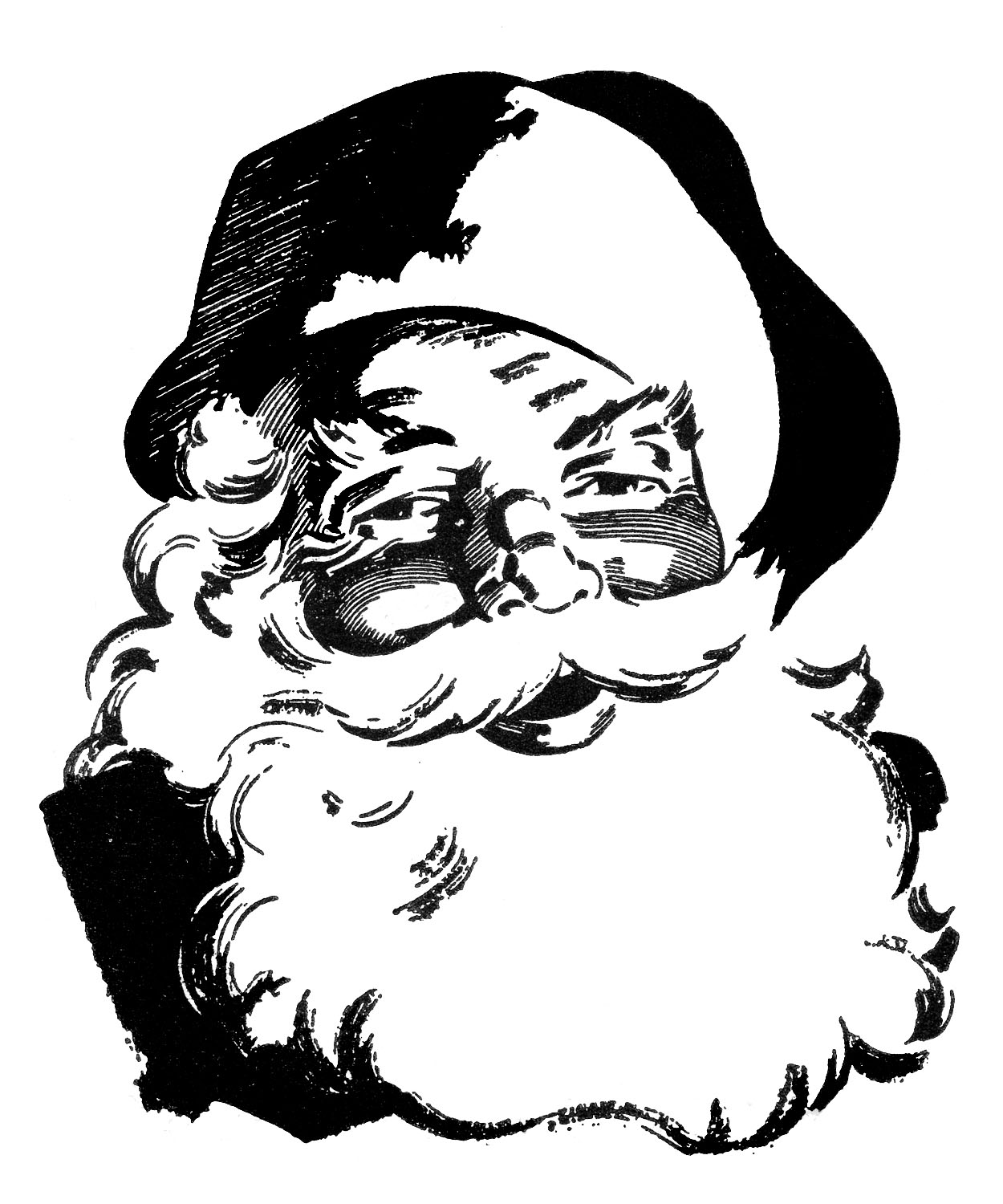 Clip Art Santa Clipart Black And White black santa clipart kid retro christmas clip art wonderful the graphics fairy