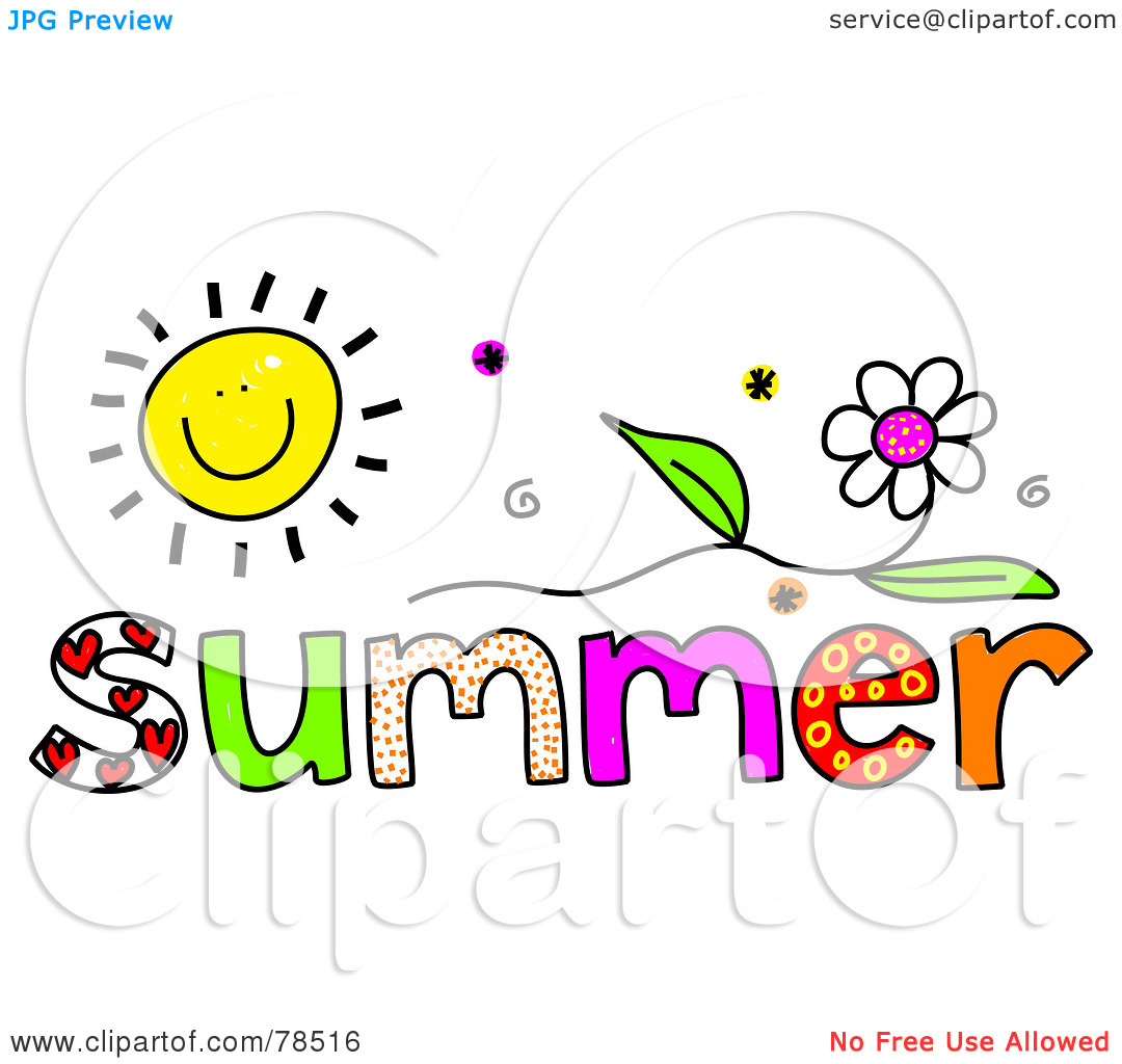 Summer Images Clip Art Royalty Free Rf Clipart Illustration Of A