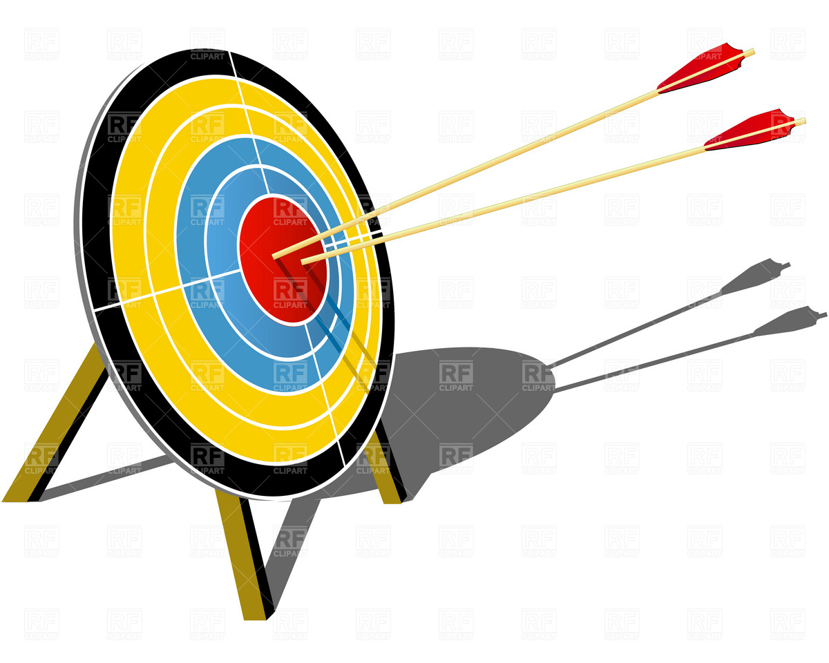 Target Hit With Arrow Download Royalty Free Vector Clipart  Eps
