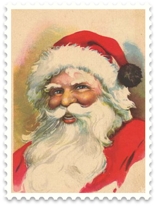 Vintage Holiday Crafts   Blog Archive   Free Vintage Santa Clip Art