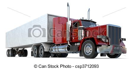 18 Wheeler Truck Side View Drawing Wheeler Clipart And Stock
