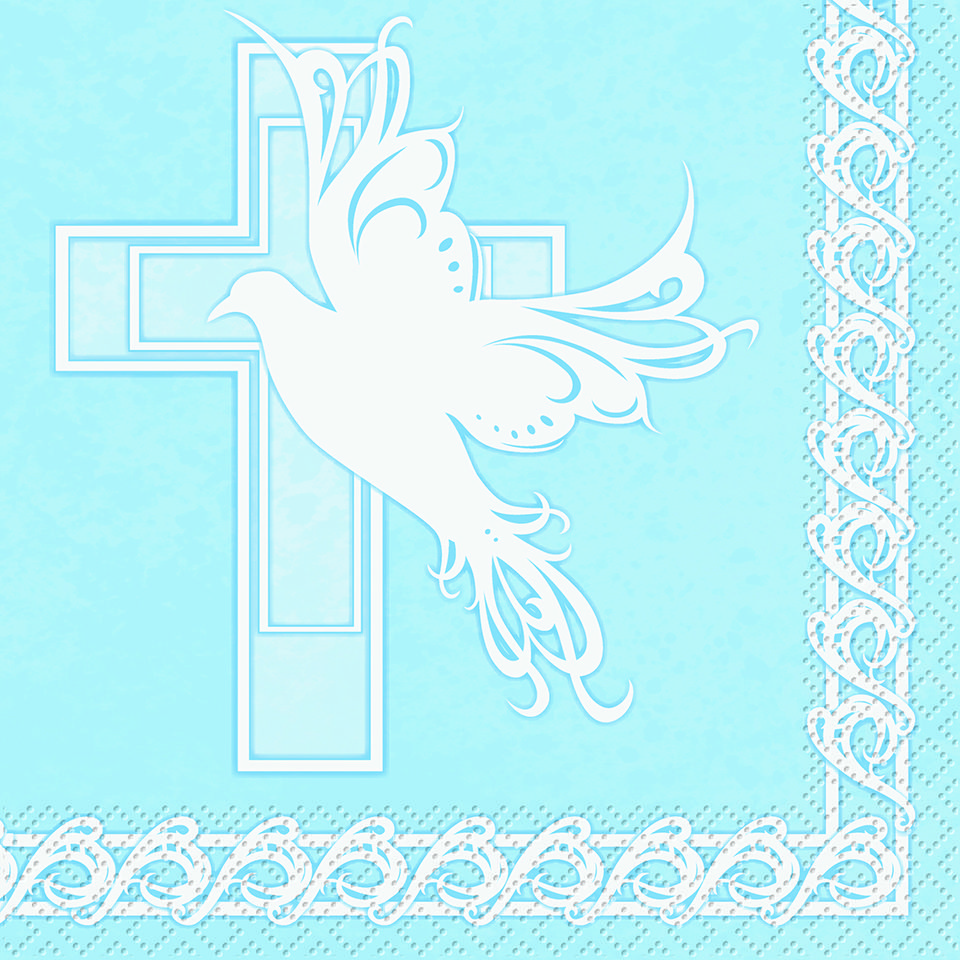 Blue Baptism Cross Dove Cross Blue Baby Boy