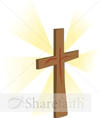Brown Cross With Hint Of Blood   Cross Clipart