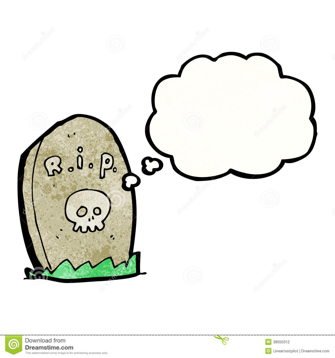 Cartoon Gravestone Stock Photography   Image  38050312