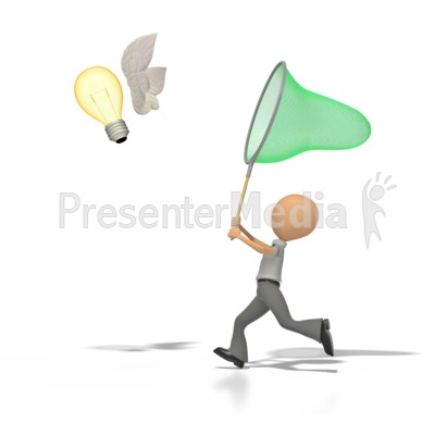 Catch An Idea   Business And Finance   Great Clipart For Presentations