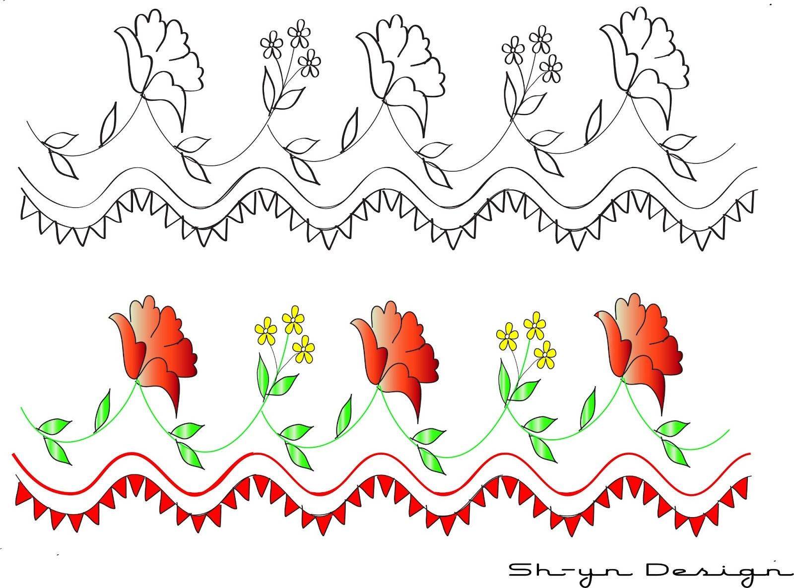 Clipart   Red Flower