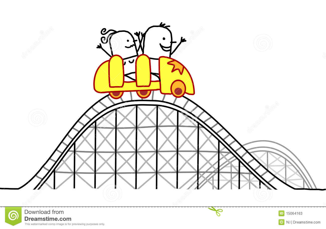Couple On Roller Coaster Stock Photos   Image  15064163