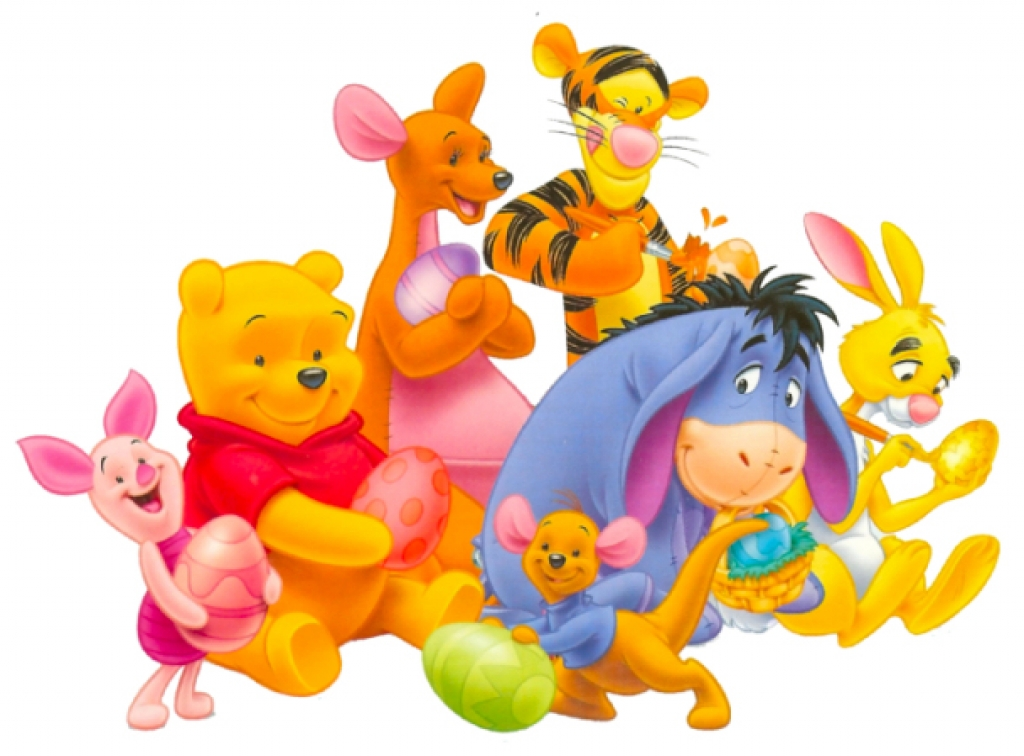Easter Winnie The Pooh Kanga Roo Tigger Piglet And Rabbit Clipart
