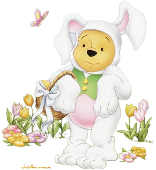 Pics Photos   Easter Winnie The Pooh Rabbit Paints Easter Egg Clipart