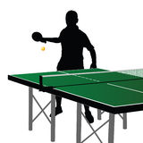 Ping Pong Player Silhouette Eight Stock Photography
