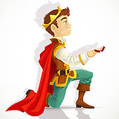 Prince Charming Asking The Marriage   Royalty Free Clip Art