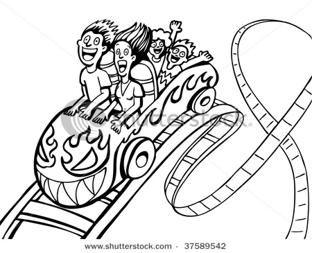 Roller Coaster Coloring Cake Ideas And Designs