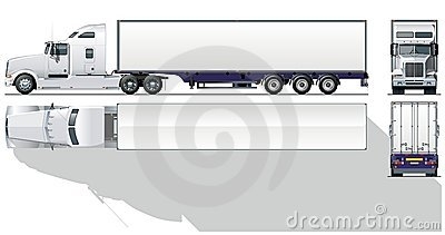 Royalty Free Stock Photography  Vector Hi Detailed Commercial Semi