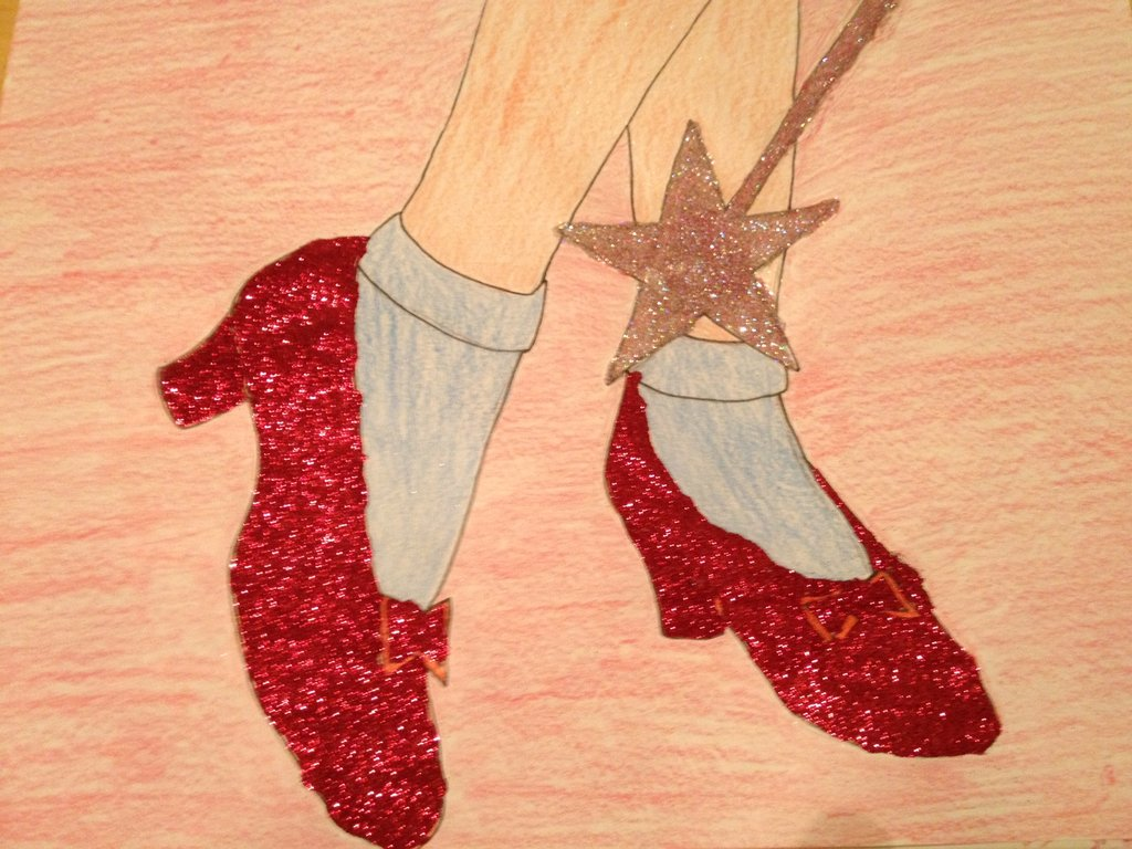 How To Draw Dorothys Shoes