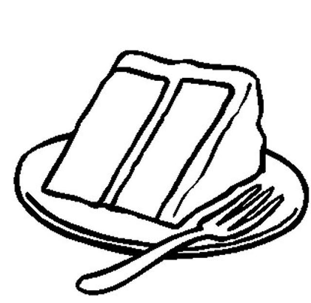 Slice Of Cake Coloring Book Page