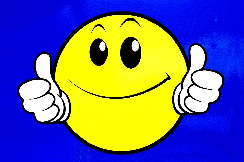 Thumbs up smiley face