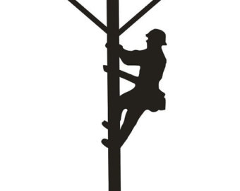 Unfinished Wood Power Lineman On Po Le 20 Inch Tall