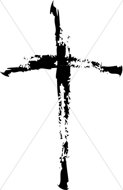 With Four Squares Cross Design Label Shades Of Gray Cross Clipart