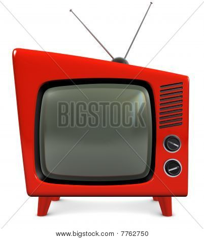 1950s Tv Set Stock Photo   Stock Images   Bigstock