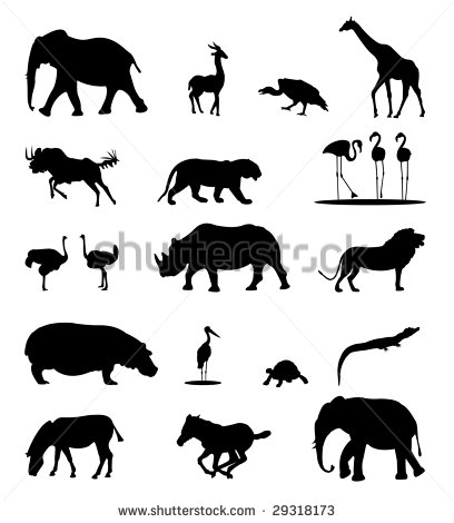 Animal Silhouette Women Clipart
