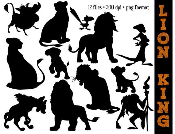 Animal Silhouettes    Animals Silhouette    Commerical Use Clipart