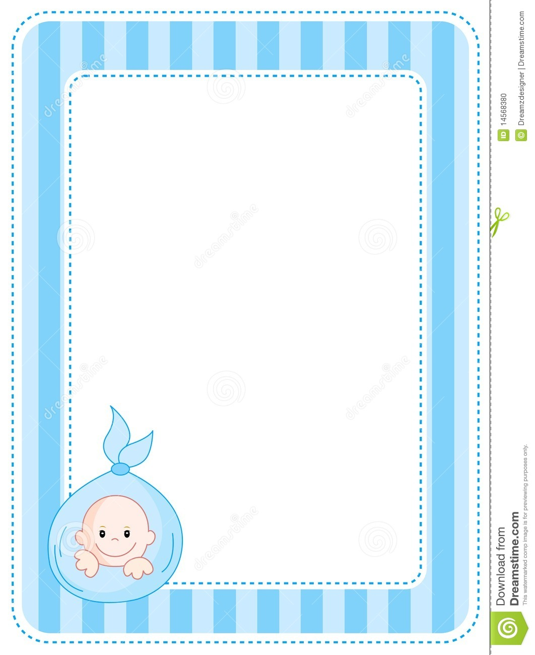 Wall Of Blue Baby Shower Border Clipart - Clipart Kid