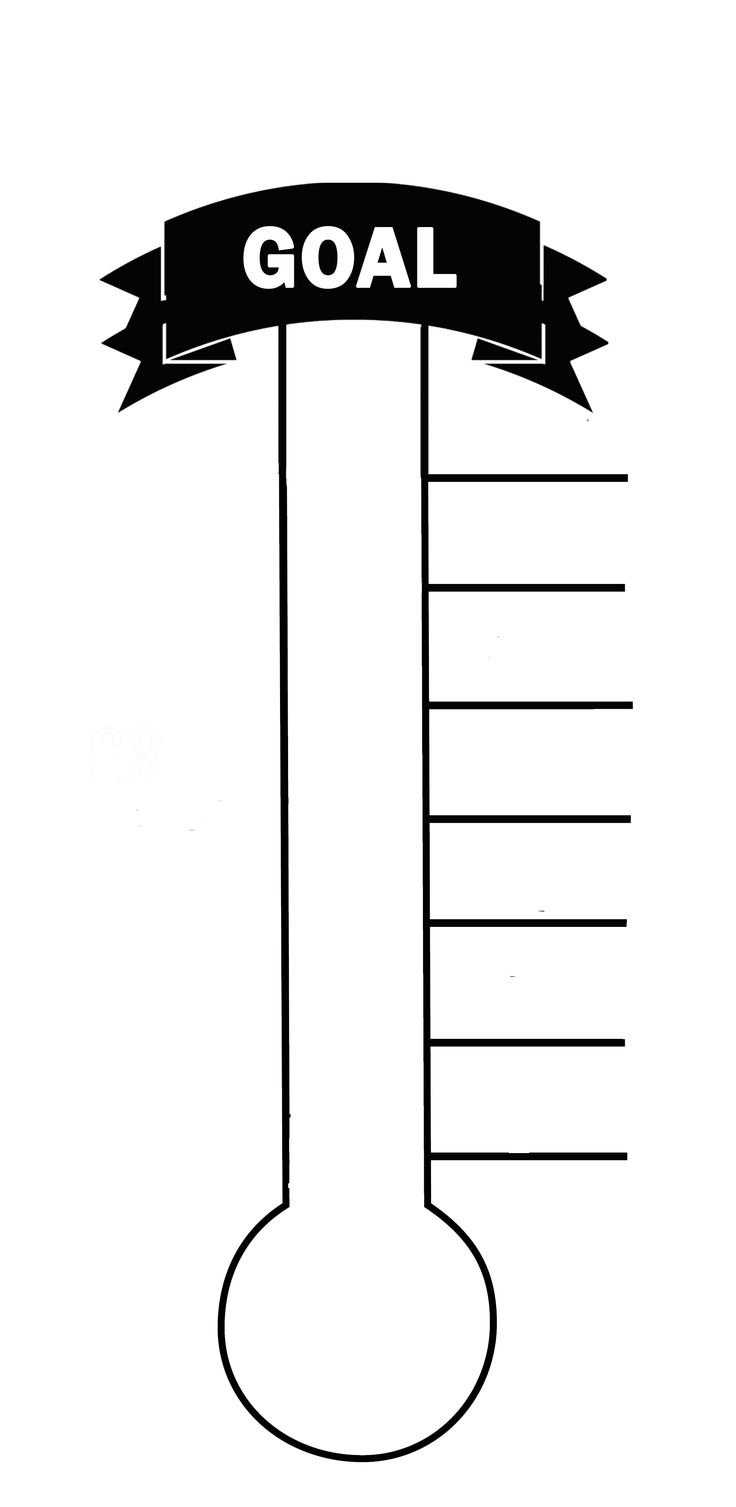 Blank Thermometer Printable For Fund Raising Creating A Goal