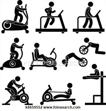 Clip Art   Gym Gymnasium Fitness Exercise  Fotosearch   Search Clipart