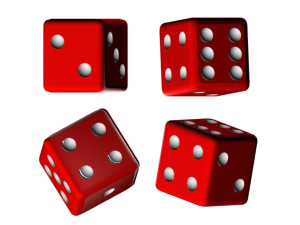 Dice Game Cube Die Gambling Gaming   3ds  3d Studio Max Software