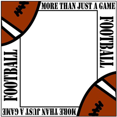 Displaying 17 Gallery Images For Football Border Clipart