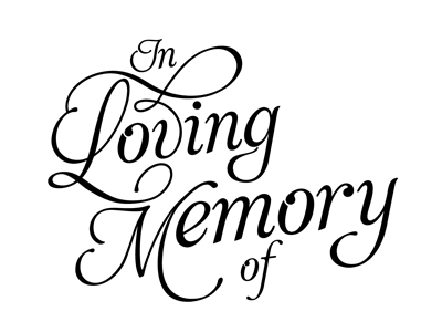 In Memory Clip Art