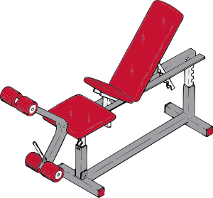 Exercise Bench Clip Art At Clker Com   Vector Clip Art Online Royalty