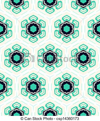 Flowers In 1950s Style   Geometrical    Csp14360173   Search Clipart