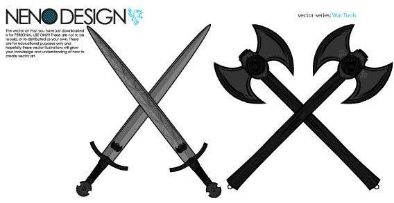 Crossed Medieval Sword...