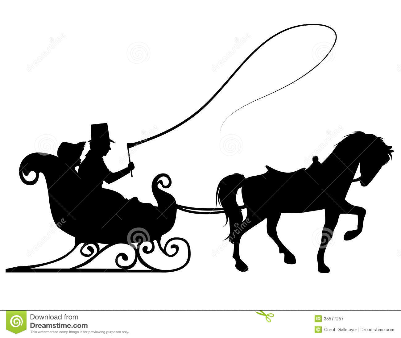 one horse open sleigh coloring page - winter scene silhouette clipart clipart suggest