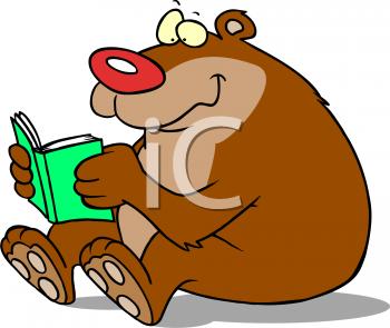 Bear Reading Clipart - Clipart Kid
