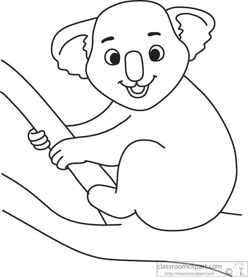 Koala Bear Outline