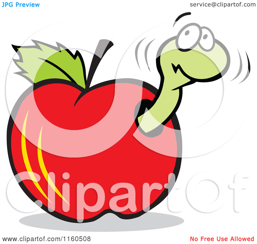 clipart apple worm - photo #28
